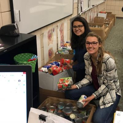 Students In Action team at McCutcheon sponsored a canned food drive